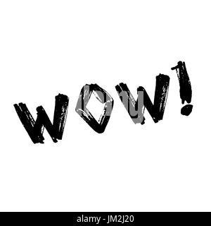 Rotulación de WOW. Texto cómico efectos de sonido. Libro de cómics de globo. Icono de burbuja discurso frase. Dibujos animados fuente exclusiva etiqueta expresión.