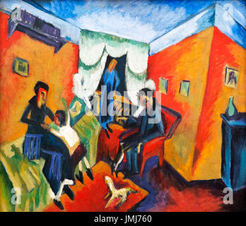 Interieur (Interior) por Ernst Ludwig Kirchner (1880-1938), 1915