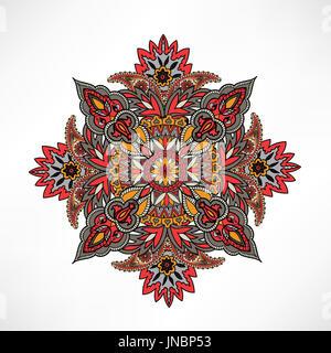 Ornamento árabe antecedentes étnicos orientales mandala amuleto floral abstracto geométrico círculo geométrico elemento para vacaciones, Caleidoscopio, medall Foto de stock