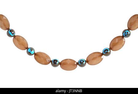 227850ddc437 Primer plano de collar bonito aislado sobre fondo blanco con trazado de  recorte Foto Bisutería.