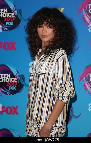 Los Angeles, California, EEUU. 13 Aug, 2017. Zendaya en los Teen Choice Awards 2017 en Galen Center el 13 de agosto de 2017 en Los Angeles, California. Crédito: Faye Sadou/Media Punch/Alamy Live News