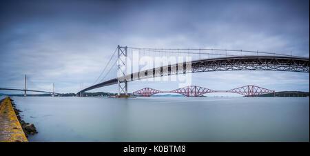Los tres puentes de Forth Foto de stock