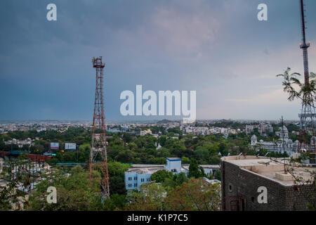 Vista de Hyderabad de la GP Birla Centre Foto de stock