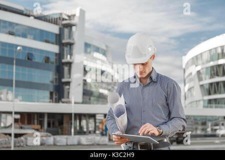 El concepto de utilizar nuevas tecnologías como ingeniero en la industria de la construcción.