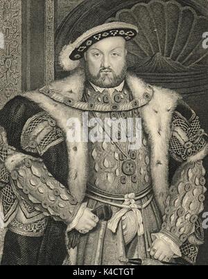 El rey Enrique VIII de Inglaterra, 1491-1547, reinó 1509-1547 Foto de stock
