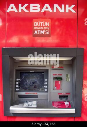 Máquina atm turca, Estambul, Turquía