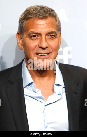 Toronto, Canadá. 10 sep, 2017. George Clooney durante el 'suburbicon' photocall durante la 42ª edición del festival Foto de stock
