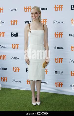 Toronto, Canadá. 10 sep, 2017. Emma Stone en la terminal de llegadas para la batalla de los sexos premiere en el Foto de stock