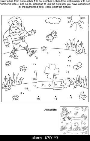 St Patrick\'s day imagen temática Sudoku puzzle 5x5 (una manzana ...