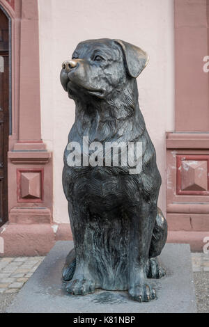 Der Rottweiler, figura de perro, monumento de perro, 2005, Rottweil, Baden-Württemberg, Alemania