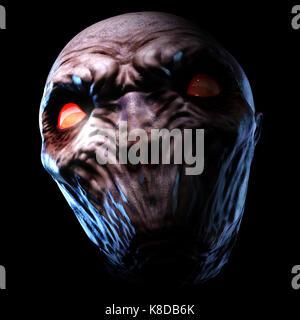 Digital 3d ilustración de un monstruo espeluznante