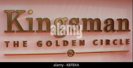 Leicester Square, Londres, Reino Unido. 18 sep, 2017. La kingsman: el círculo dorado estreno mundial en Londres. Crédito: dinendra haria/alamy live news Foto de stock
