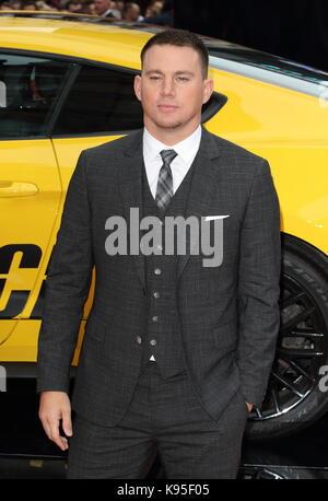 """El Reino Unido estreno de 'logan afortunados"""" celebrada en vue west end - llegadas con: Channing Tatum donde: Londres, Foto de stock"""