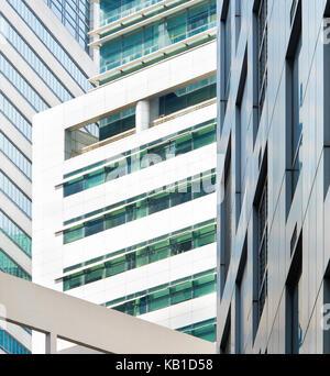 Las paredes de los edificios de oficinas en el centro de Singapur. Antecedentes