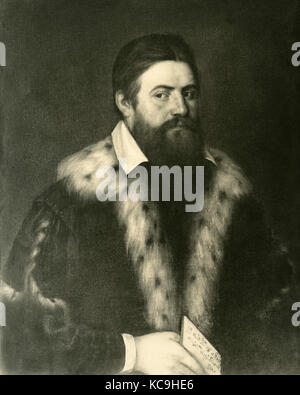 Abraham Bloemart, autorretrato Foto de stock