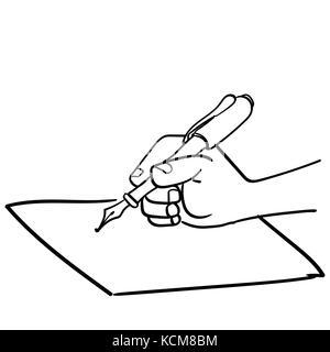 Caricatura en blanco y negro ilustración práctica de las habilidades ...
