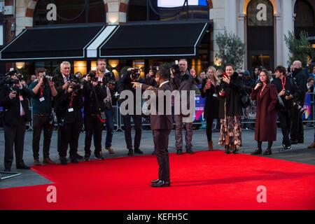 Londres.Reino Unido. Jason Mitchell en el Royal Bank of Canada Gala y estreno europeo de 'Mudbound'. 61º Festival de Cine de Londres BFI 5 de octubre de 2017 Ref:LMK386-S816-061017 Gary Mitchell/Landmark Media WWW.LMKMEDIA.COM