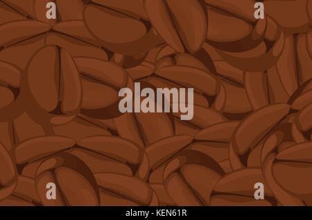 Ilustración de un cierre de granos de café.