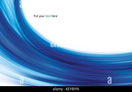 Resumen de luz brillante y agitando curvas azules antecedentes