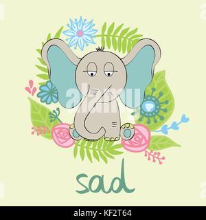 Vector de elefante de dibujos animados