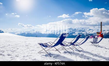 Relajantes vacaciones de esquí en las pistas de esquí