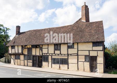 Los Masones del siglo xv' Court town house, Rother Street, Stratford-upon-Avon, Warwickshire, Inglaterra, Reino Unido