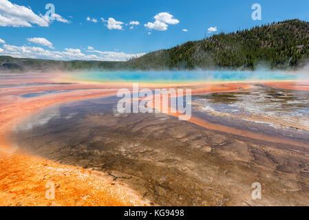 Grand Prismatic Spring, en el parque nacional de Yellowstone.