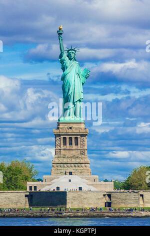 La estatua de la libertad Nueva York la estatua de la libertad Nueva York la estatua de la isla de La Libertad, el estado de Nueva York, EE.UU. US Estados Unidos de América Foto de stock