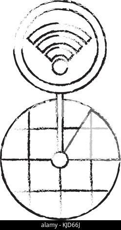 Pantalla de navegación GPS mapa puntero conexión wifi