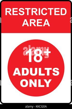 Zona de acceso restringido slo para adultos 18 signo zona de acceso restringido slo para adultos 18 signo ilustracin vectorial altavistaventures Gallery