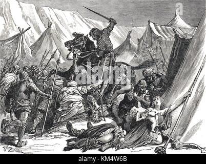 Robert curthose, Roberto II, duque de Normandía, congregando los cruzados en la batalla de dorylaeum, 1097 durante la primera cruzada