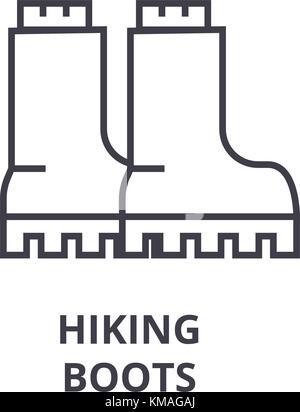 Esbozo botas zapatos equipamiento camping aventura Ilustración del ...