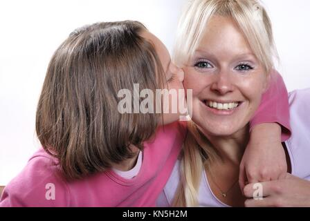 La complicidad entre madre e hija.