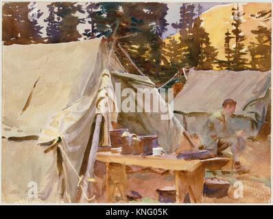 Acampar en el lago O'Hara. Artista: John Singer Sargent (American, Florencia Londres 1856-1925); Fecha: 1916; media: Foto de stock
