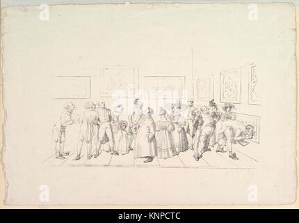 El público en una exposición. Artista: Johann Gottfried Schadow (alemán, Berlín Berlín 1764-1850); Fecha: 1831; media: Litografía de una placa de zinc.