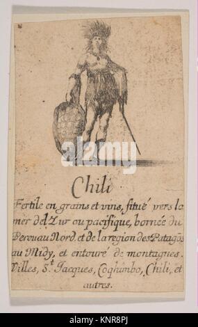 """Chile, desde 'Juego de Geografía"""" (Jeu de la Géographie). Series/Cartera: 'Juego de Geografía"""" (Jeu de la Géographie); Artista: Grabado por Stefano della Foto de stock"""