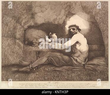 El cautivo (Sterne's viaje sentimental). Pintor y grabador: grabado y editado por Robert Blyth (británico, ca. 1750-1784); Artista: Después de John