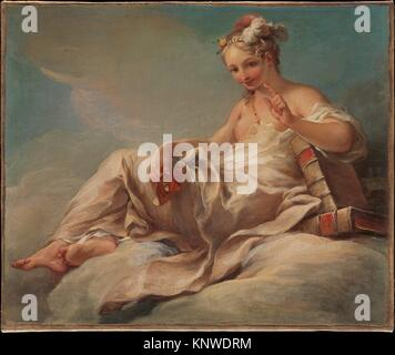 La comedia. Artista: Pierre Charles Trémolières (Francés, Cholet 1703-1739 París); Fecha: ca. 1736; media: Óleo sobre lienzo, ampliada; Dimensiones: 18 x 23 3/4