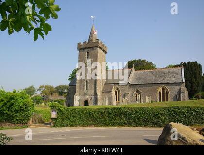 La Iglesia de San Lorenzo, Bigbury, Devon, que datan del siglo XIV pero reedificada en el 19th. Fecha: 2014