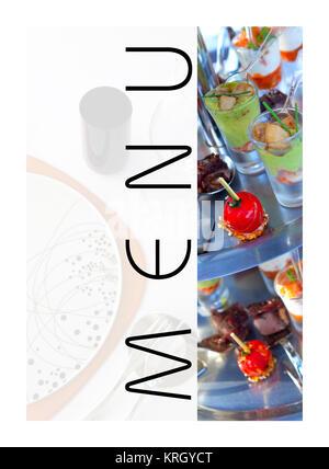 El menú de un restaurante