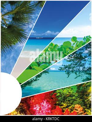 Collage de imágenes de verano en la playa - Naturaleza y antecedentes de viajes