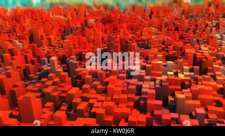 3D rendering. Topografía abstractas y colores