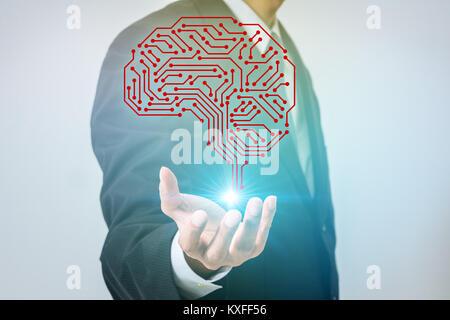 AI (inteligencia artificial) concepto.