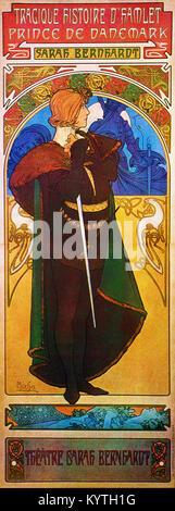 Alphonse Mucha (Alfons Maria) 1860 - 1939 Hamlet - Sarah Bernhardt