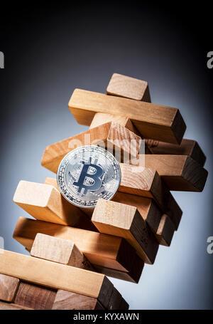 Bitcoin imagen concepto de riesgo de inversión
