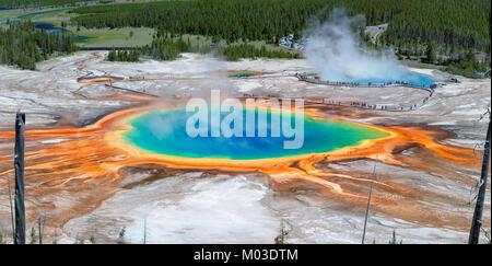 Vista panorámica de Grand Prismatic Spring, en el Yellowstone
