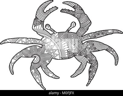 Boceto del tatuaje de cangrejo Foto & Imagen De Stock: 169593861 - Alamy