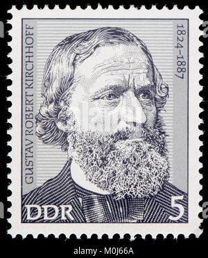 Sellos de Alemania oriental (1974) : Gustav Robert Kirchhoff (1824 - 1887) físico alemán