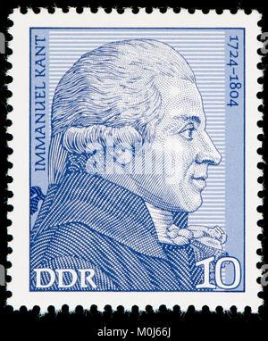 Sellos de Alemania oriental (1974) : Immanuel Kant (1724 - 1804), filósofo alemán