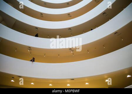 Estados Unidos,Nueva York,Nueva York,Upper East Side, Museo Guggenheim,vestíbulo interior